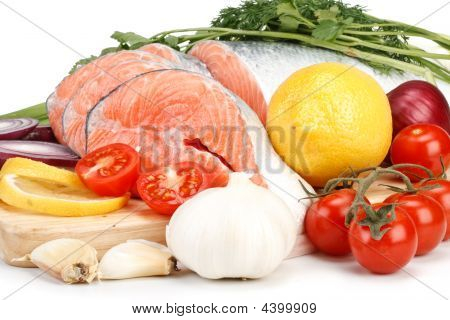 Fresh Salmon With Vegetables