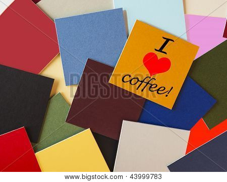 I Love Coffee - Sign For Food & Drink, Office, Home, & Coffee Lovers Everywhere!