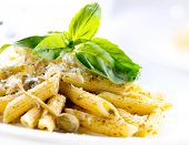 stock photo of pesto sauce  - Pasta - JPG