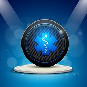 stock photo of scepter  - Abstract medical background with caduceus medical symbol - JPG