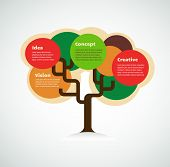 colorful tree with space for text, infographics background