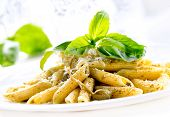 stock photo of pine nut  - Pasta - JPG