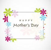 image of i love you mom  - Floral decorated background for Happy Mothers Day - JPG