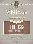 stock photo of vintage antique book  - Vintage retro page template for a variety of purposes - JPG