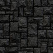 Seamlessly black stonework background.
