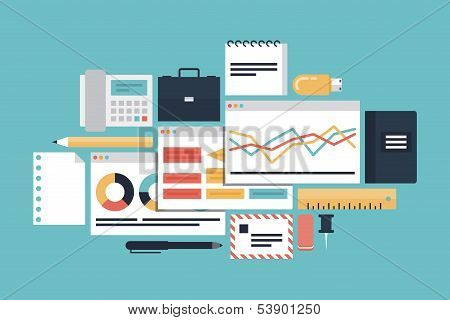 Business Productivity Illustration Concept