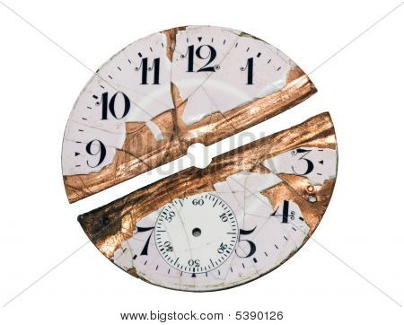 Damaged Watch Face With Clipping Path