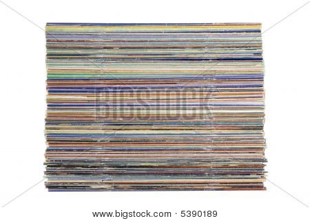 Pile Of Magazines Isolated On White