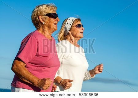 Senior Women Jogging.
