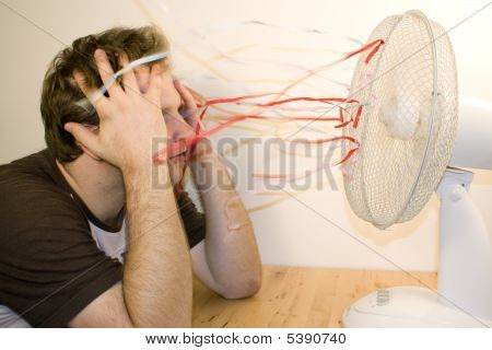 Man And Ventilator