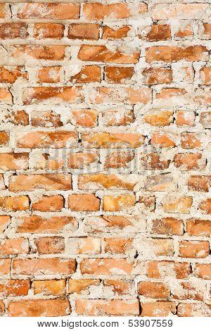 Old Brick Wall Background. Macro Shot