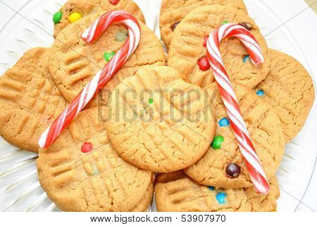 Candy Canes and Peabutbutter Cookies