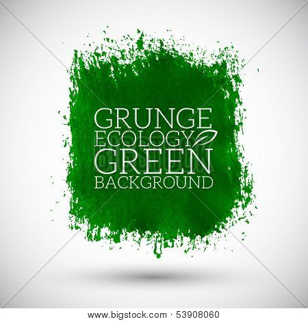 Abstract green color eco organic grunge background