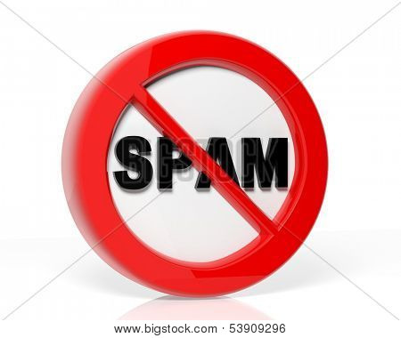 Spam warning sign