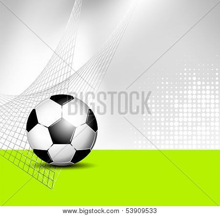 Soccer ball background with abstract net texture