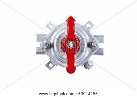 Toggle Switch Isolated On White