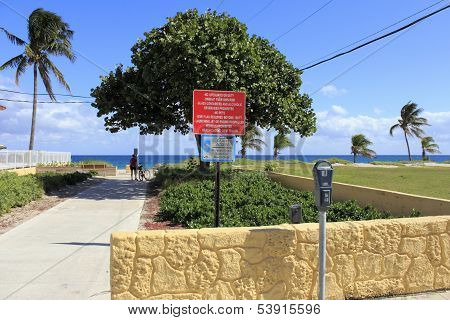 Entrance To Pompano Beach, Florida