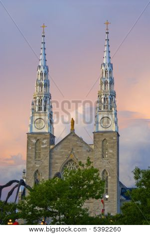 Notre-dame Cathedral Basilica In Ottawa, Ontario, Canada