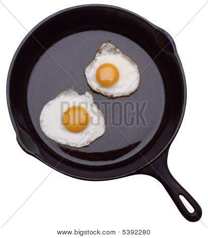 Zwei Eier In Pfanne