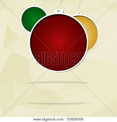 The Christmas balls card