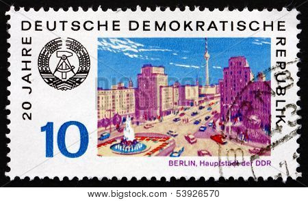 Postage Stamp Gdr 1969 View Of Berlin