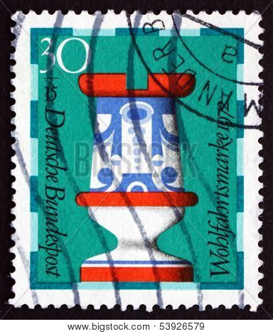 Postage Stamp Germany 1972 Rook, Chess Piece