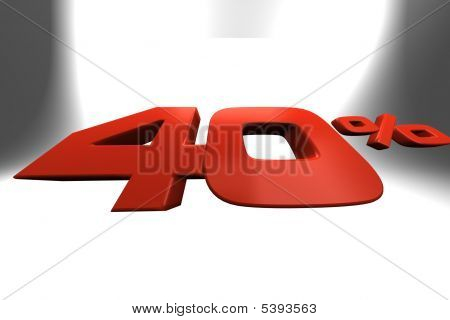 Forty Percent 3D Banner