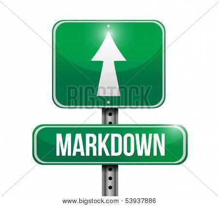 Markdown Road Sign Illustration Design