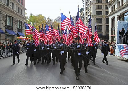 FDNY contingent marching