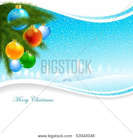 Christmas baubles decoration background