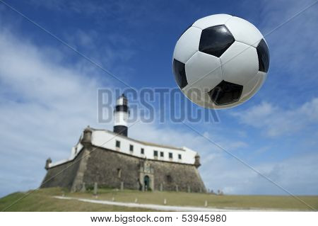 Soccer Ball at Salvador Brazil Lighthouse