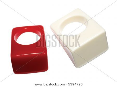 Red And White Waterproof Rings
