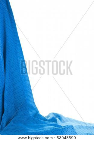 Drop-down fabric isolated on white