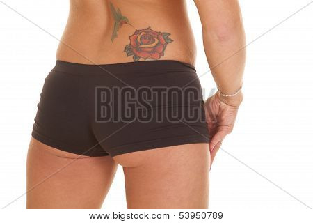 Woman Back Tattoo Shorts