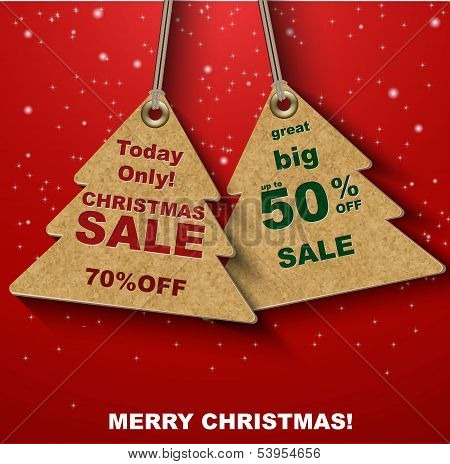 Discount coupons in the form of Christmas tree