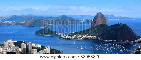 Panoramic view of Sugar loaf in Rio