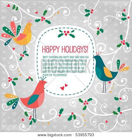 Birds Christmas banner