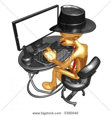 3D Vector Gold Guy Businessman