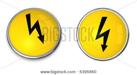 Button Electricity Symbol