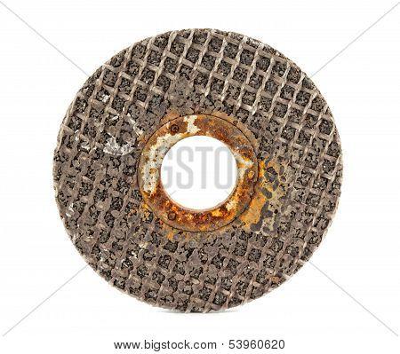 Old Abrasive Disk