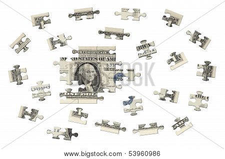 One dollar jigsaw