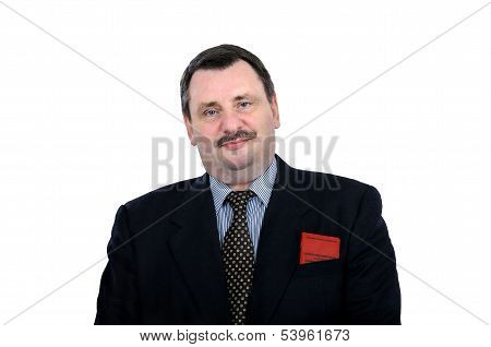 Actor plays the role of smiling communist