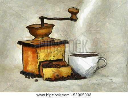 Cup Of The Hot Black Coffee