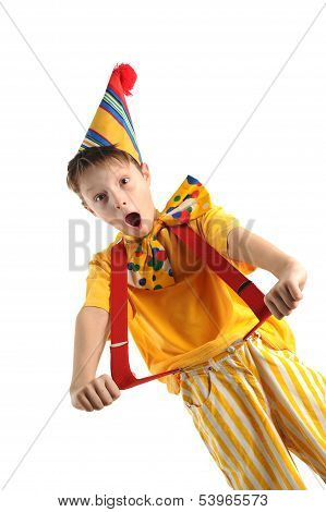 Shouting Clown Boy