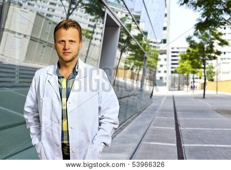 Confident And Smart Scientist Or Doctor