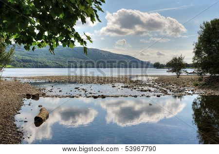 Cloud reflections in Coniston Water