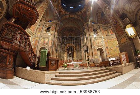 St Joachim Church Interior In Rome