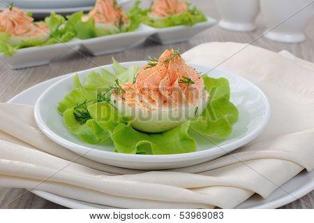 Eggs Stuffed With Salmon Pate