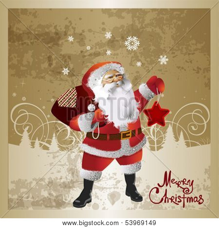 Santa Claus background. This illustration is an EPS10 file and contains several transparencies blend which its easily editable in separate layers. Vector illustration scale to any size.