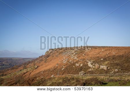 Baslow Edge Peak District Rock